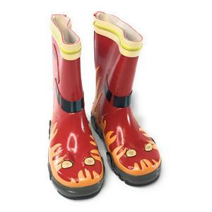 Kidorable Red Fireman Rain Boots 9 NEW w/Defects